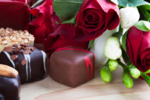 Chocolate,caviar,roses valentines day