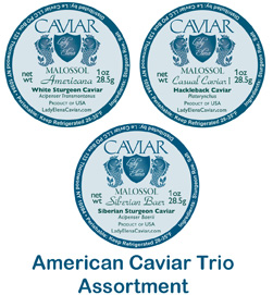 American Caviar Trio Tasting Assortments