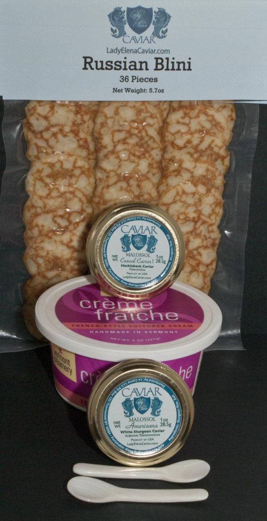 Hackleback Caviar and White Sturgeon Caviar Gift Assortment