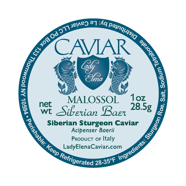 Siberian Sturgeon caviar Italy