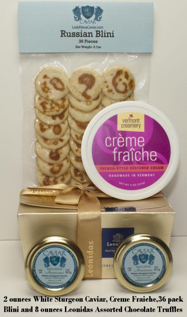 White Sturgeon Caviar Service with Chocolate