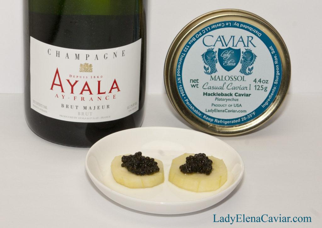 Ayala Champagne with Hackleback Caviar