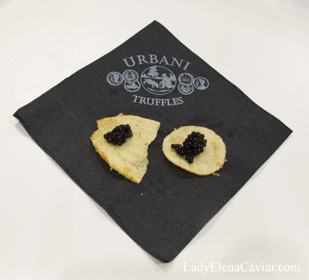 Urbani Truffled Potato Chipwith White Sturgeon Caviar