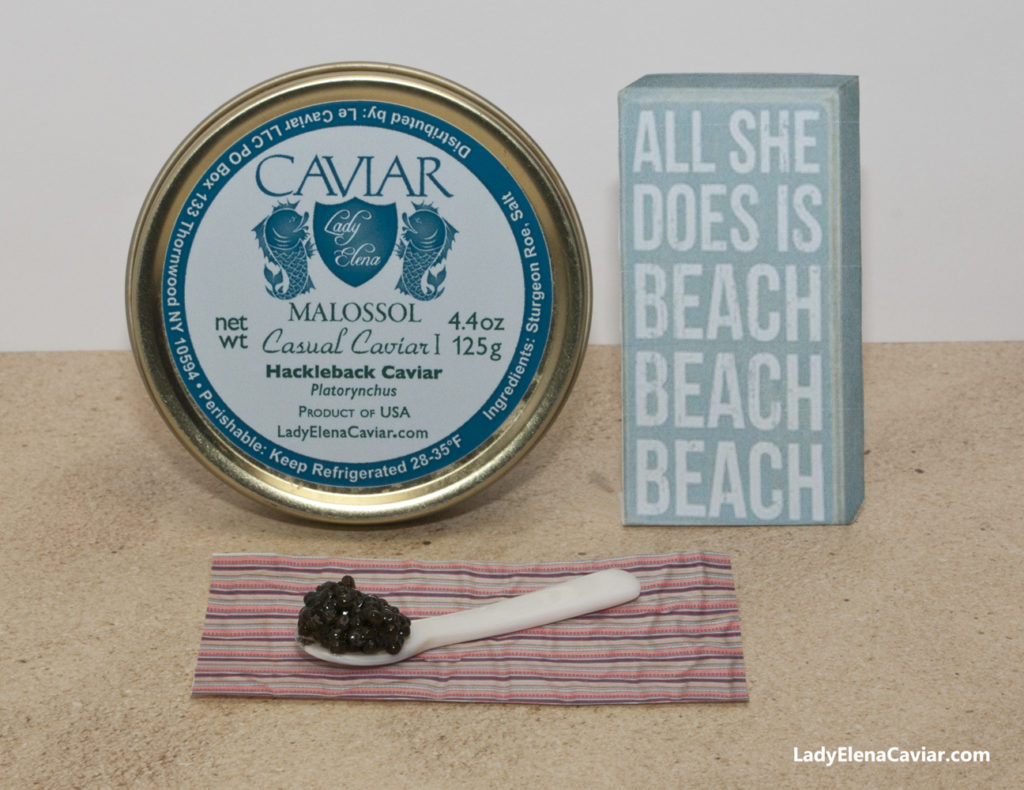 Hackleback Caviar on the Summer Beach