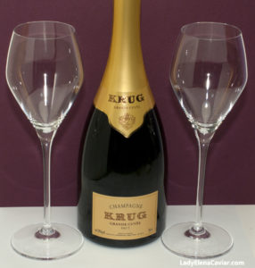 Champagne Krug with Proper Glasses and Caviar