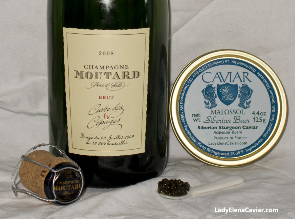 Champagne Moutard Six Cepages 2008 and Siberian Sturgeon Caviar
