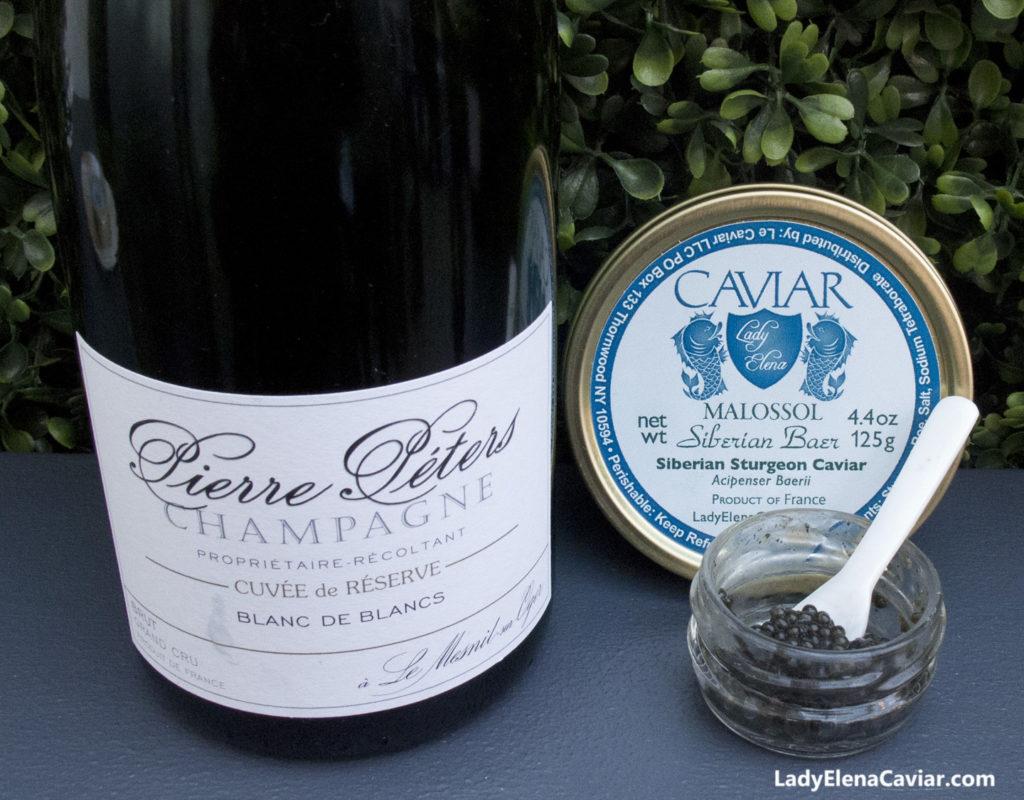Pierre Peters Cuvee de Reserve Grand Cru Brut NV Champagne Siberian Caviar