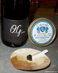 Champagne and Caviar 2010 Champagne JL Vergnon OG Grand Cru Brut Nature with Siberian Sturgeon Caviar
