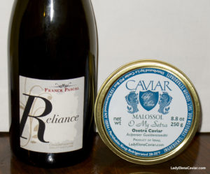 Champagne and Caviar Franck Pascal Champagne Relaince NV with Osetra Caviar