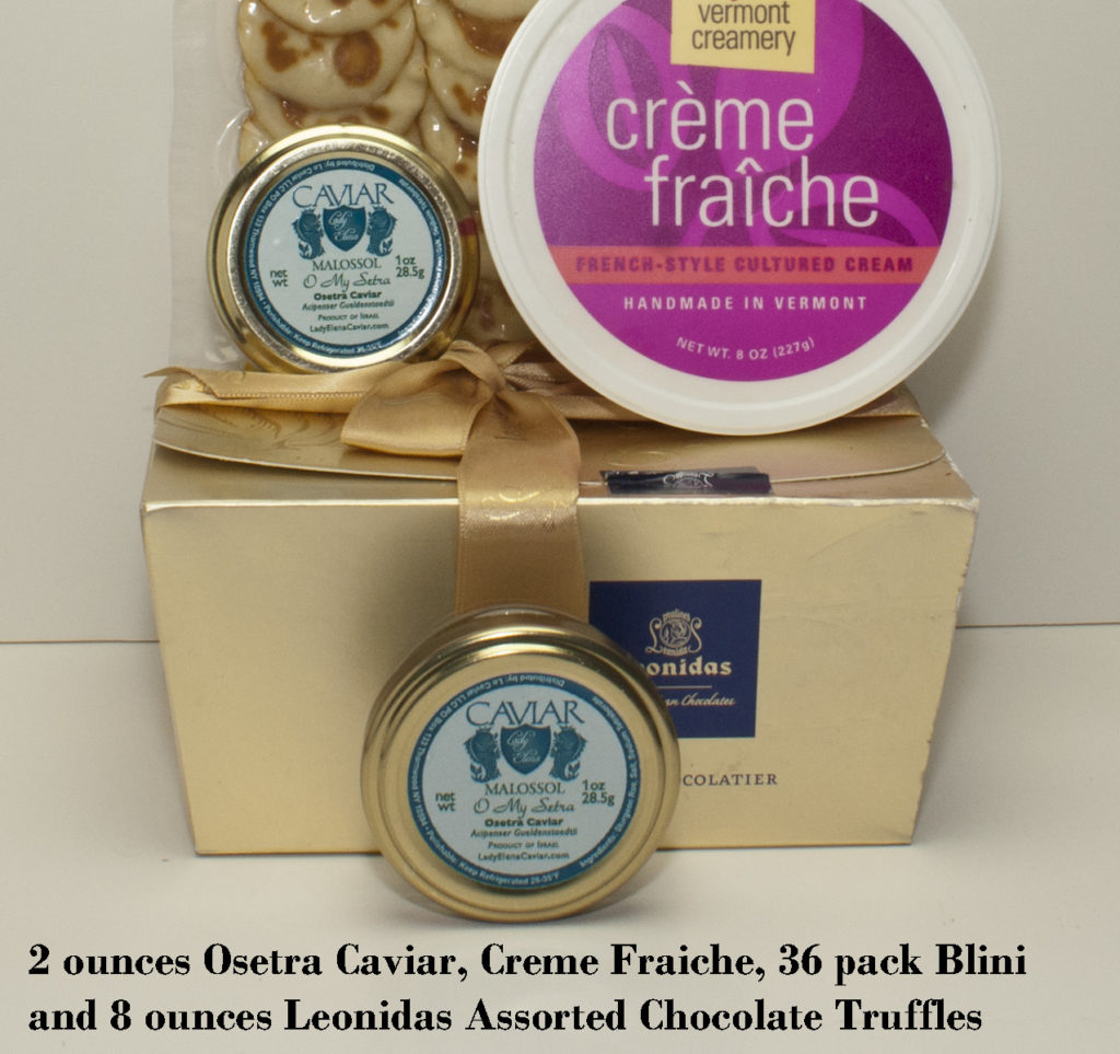 Osetra Caviar Service with Chocolate
