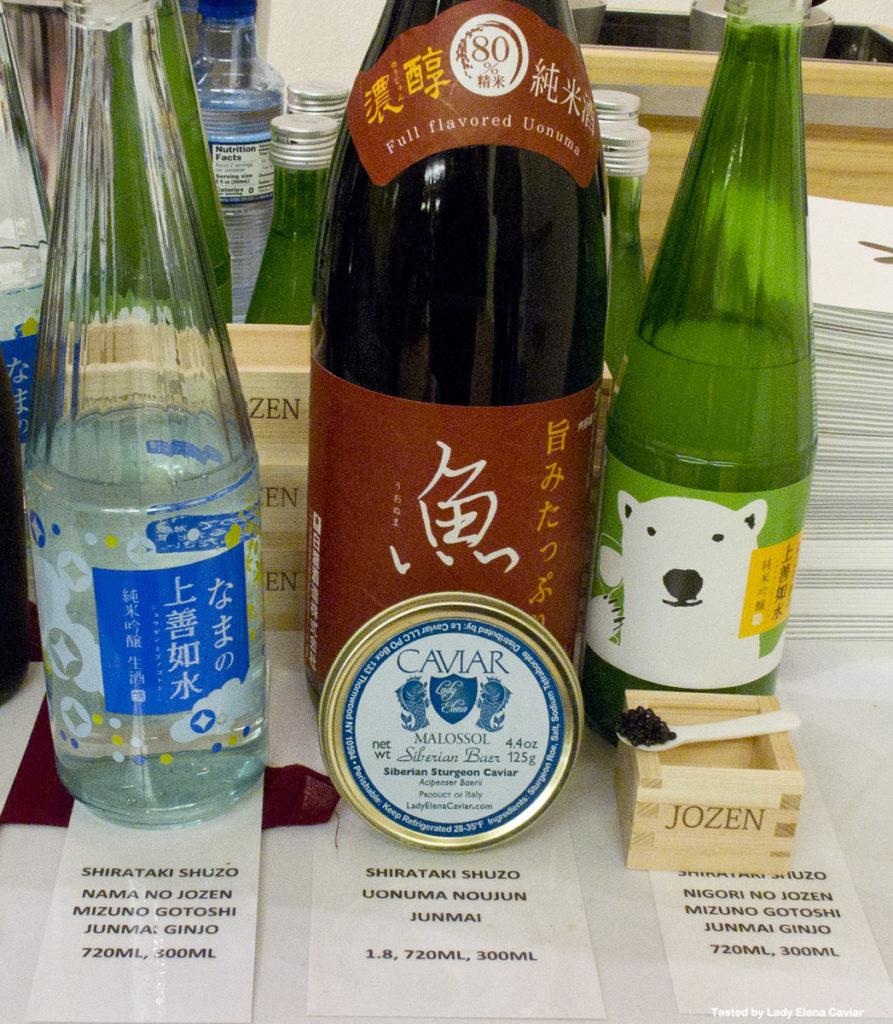 Shirataki Shuzo Sake with Siberian Sturgeon Caviar