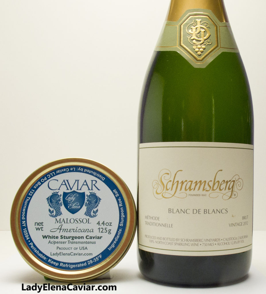 Lady Elena White Sturgeon Caviar and Schramsberg Sparkling Wine