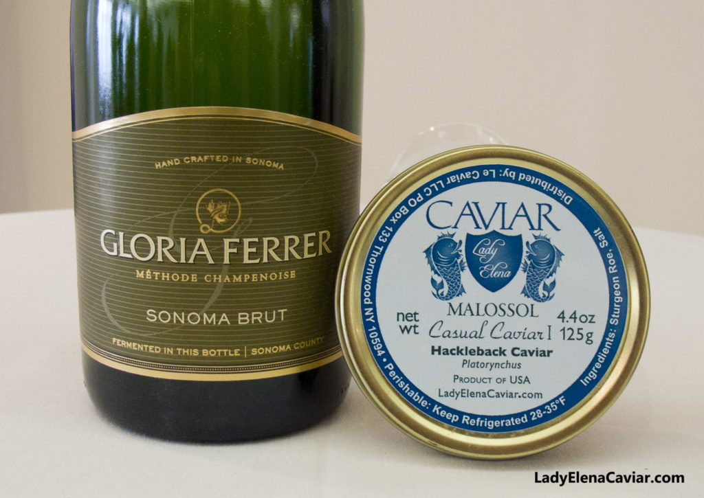 Caviar Sale Gloria Ferrer Sonoma Brut with Hackleback Caviar