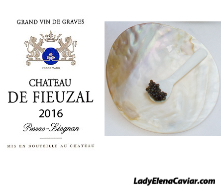 2016 Chateau De Fieuzal and Siberian Sturgeon Caviar